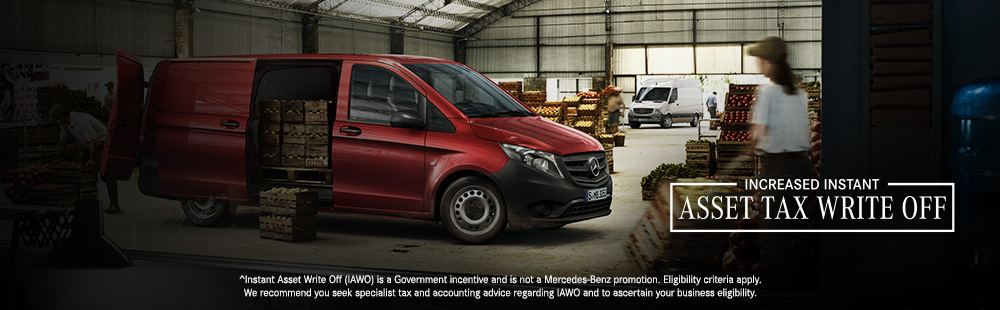 Instant Asset Tax Write Off on Mercedes-Benz Vans and Utes at G Brothers Northern Beaches