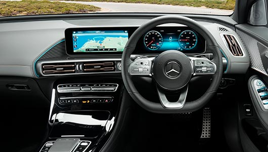 EQC Electric SUV MBUX Multimedia System at G Brothers | Mercedes-Benz Dealer Sydney